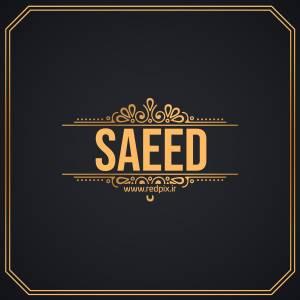 سعید به انگلیسی طرح اسم طلای Saeed