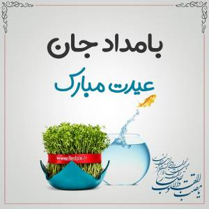 بامداد جان عیدت مبارک طرح تبریک سال نو