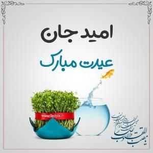 امید جان عیدت مبارک طرح تبریک سال نو