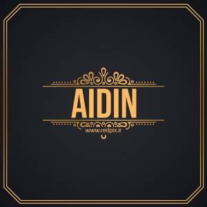 آیدین به انگلیسی طرح اسم طلای Aidin