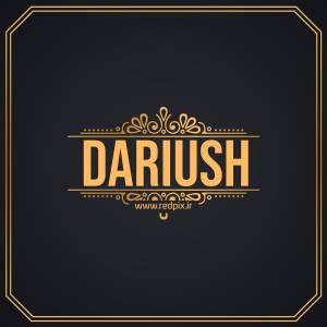 داریوش به انگلیسی طرح اسم طلای Dariush