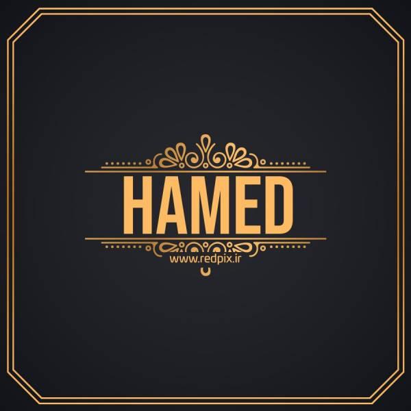 حامد به انگلیسی طرح اسم طلای Hamed