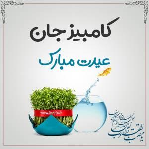 کامبیز جان عیدت مبارک طرح تبریک سال نو