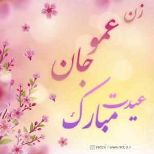 زن عمو جان عیدت مبارک طرح تبریک سال نو