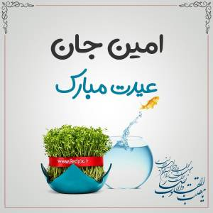 امین جان عیدت مبارک طرح تبریک سال نو