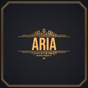آریا به انگلیسی طرح اسم طلای Aria