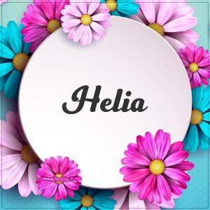 هلیا به انگلیسی طرح گل های صورتی