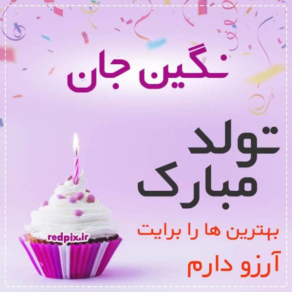 نگین جان تولدت مبارک عزیزم طرح کیک تولد