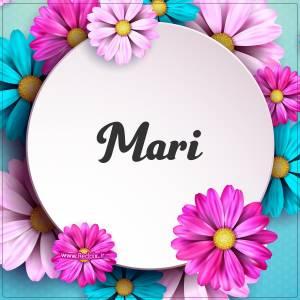 ماری به انگلیسی طرح گل های صورتی