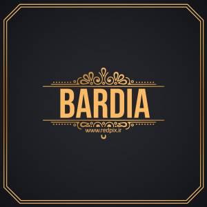 بَردیا به انگلیسی طرح اسم طلای Bardia